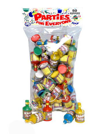 PARTY POPPERS - BULK PACK OF 50