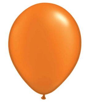 BALLOONS LATEX - ORANGE PEARL PROFESSIONAL PACK OF 15