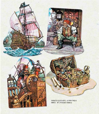 PIRATE CUT OUTS - PK 4