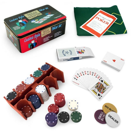 casino style Texas Holdem 200 chip poker set