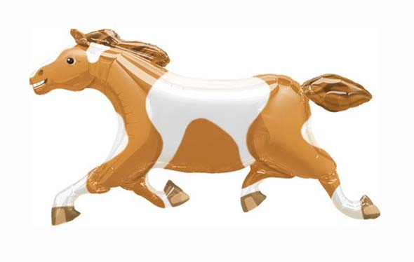 FOIL SUPER SHAPE BALLOON - HORSE BROWN & WHITE