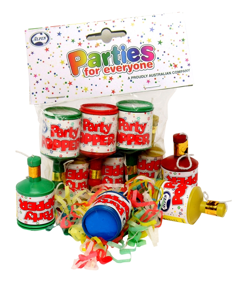 PARTY POPPERS - PACK OF 20