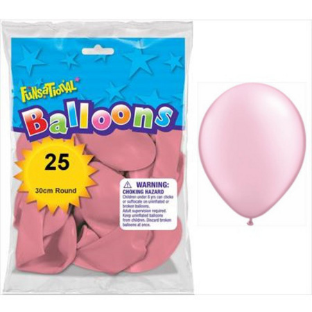BALLOONS LATEX - FUNSATIONAL PEARL PINK PACK OF 25
