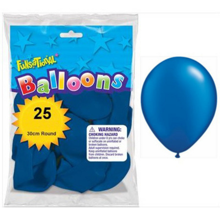 BALLOONS LATEX - FUNSATIONAL PEARL BLUE PACK OF 25