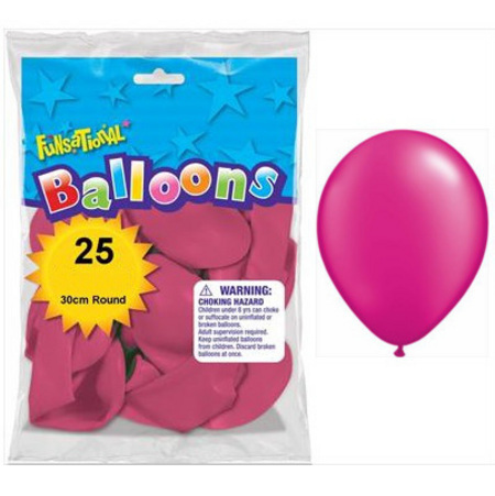 BALLOONS LATEX - FUNSATIONAL PEARL FUCHSIA PACK OF 25