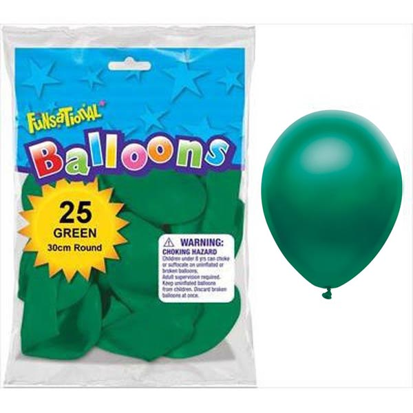 BALLOONS LATEX - FUNSATIONAL PEARL GREEN PACK OF 25