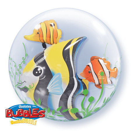DOUBLE BUBBLE BALLOON - SEAWEED TROPICAL FISH