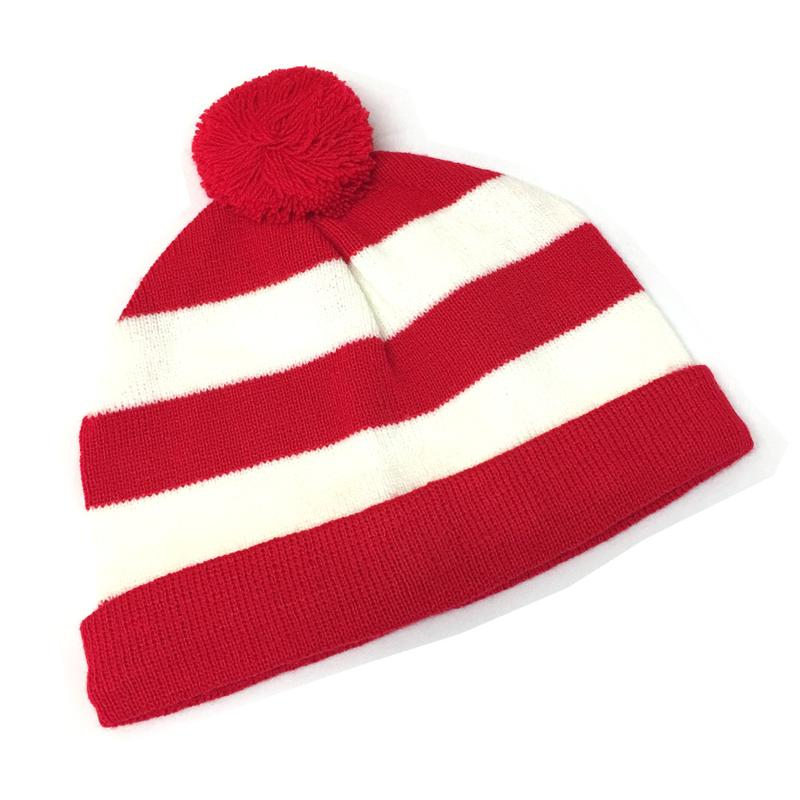 WHERES WALLY STRIPED BEANIE