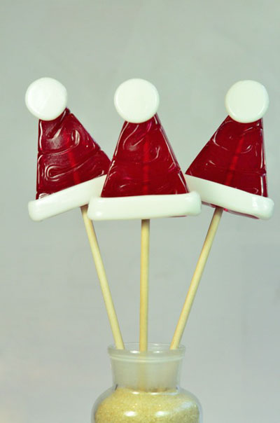 LOLLIPOPS SANTA'S HAT - PACK OF 12