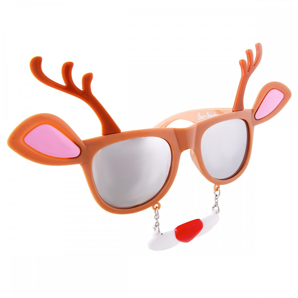 CHRISTMAS REINDEER SUNSTACHES GLASSES