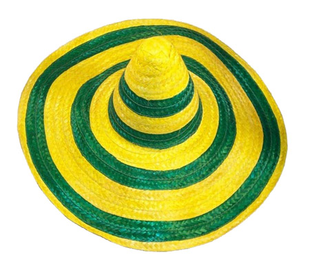 AUSTRALIAN GREEN & GOLD SOMBRERO STRAW HAT