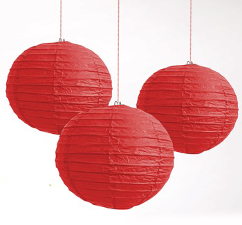 CHINESE PAPER LANTERN 35CM - RED