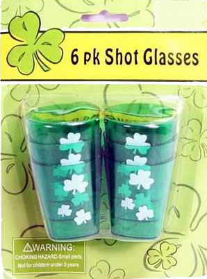 ST PATRICK'S DAY SHOT GLASSES PACK OF 6