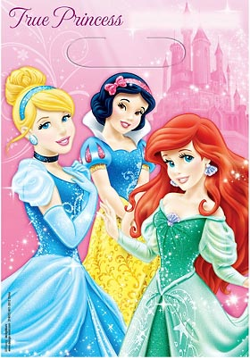 DISNEY PRINCESS SPARKLE LOOT BAGS - PACK OF 8