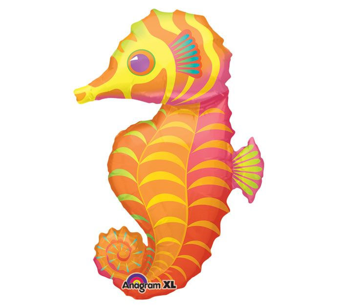 FOIL SUPER SHAPE BALLOON - TROPICAL SEAHORSE