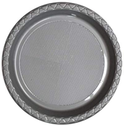 DISPOSABLE DINNER PLATE - SILVER PACK OF 25