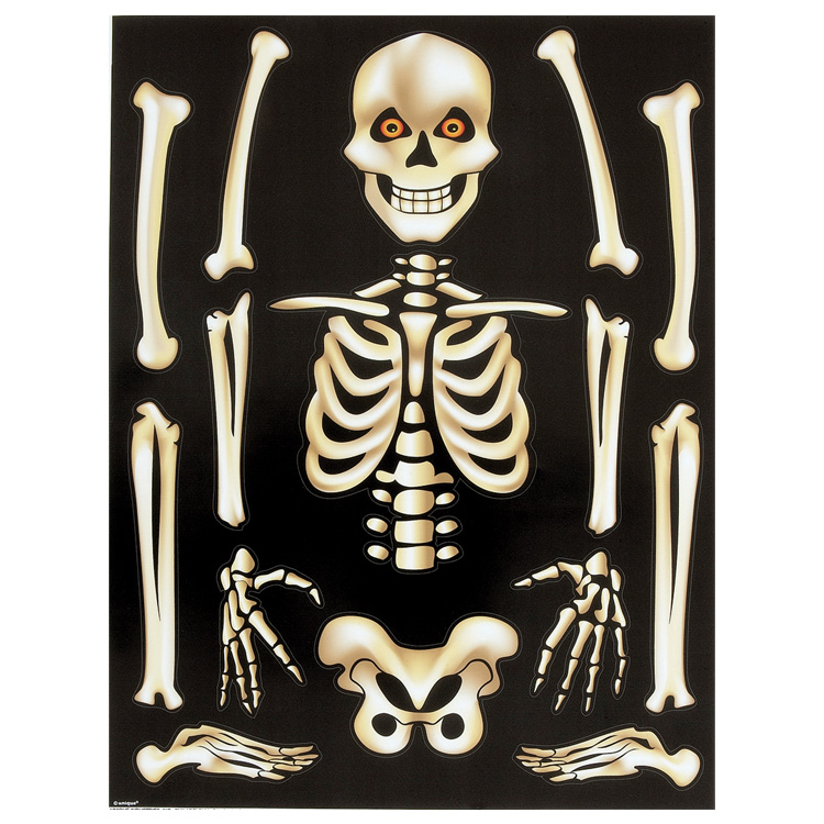 SKELETON WINDOW CLING