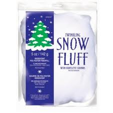ARTIFICAL SNOW FLUFF - TWINKLING WHITE