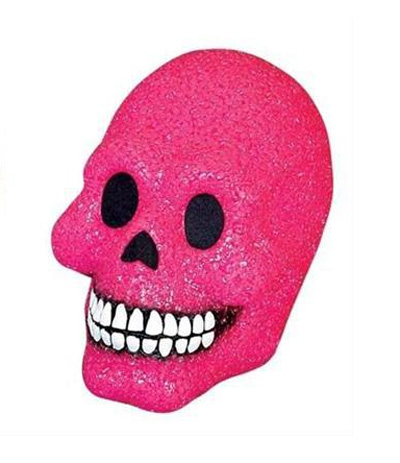 SPARKLING LIGHT UP SKULL - HOT PINK