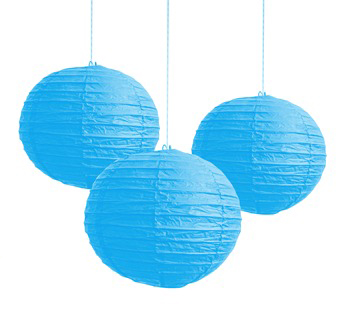 Image of Chinese Paper Lantern 20cm  Blue