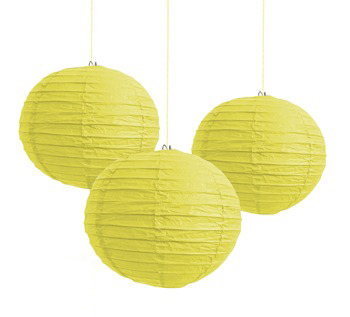 CHINESE PAPER LANTERN 30CM - YELLOW