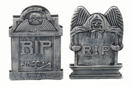 HALLOWEEN TOMBSTONES - TABLE TOP PACK OF 2