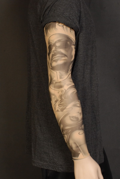 TATTOO SLEEVE - VATO STYLE ROCK LEGEND BLACK & GREY