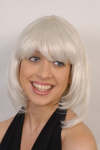 CHARLIE'S ANGEL WIG - WHITE BLONDE