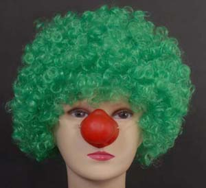 CURLY CLOWN WIG - GREEN