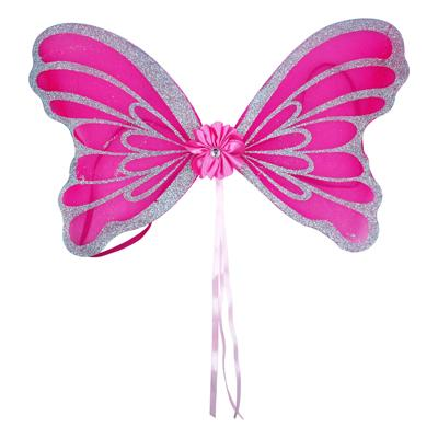 HOT PINK GLITTERED DAZZLE WINGS