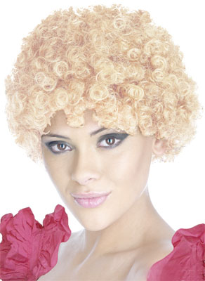 CURLY CLOWN WIG - BLONDE