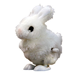 PARTY FAVOUR - WIND UP WHITE MINI BUNNY