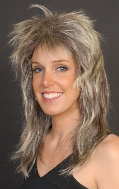 TOMMY ROCKER LONG BLONDE STREAK WIG