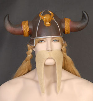 MOUSTACHE - BLONDE GIANT BIKER OR VIKING