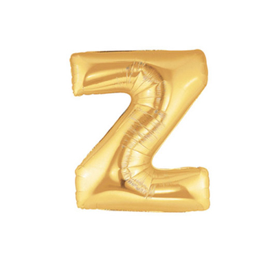 FOIL BALLOON SUPER SHAPE LETTER Z - GOLD