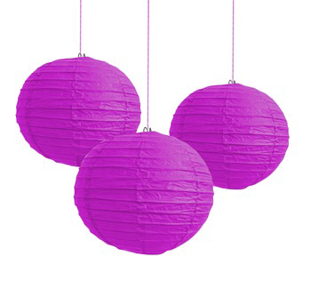 CHINESE PAPER LANTERN 40CM - PURPLE