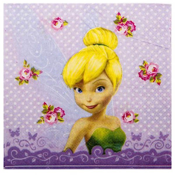 DISNEY TINKERBELL NAPKINS - PACK OF 16