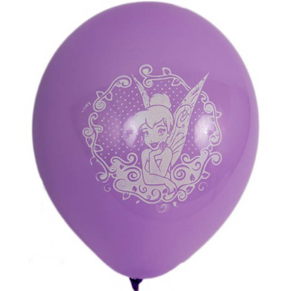 BALLOONS LATEX - DISNEY FAIRY TINKERBELL LATEX PACK OF 6