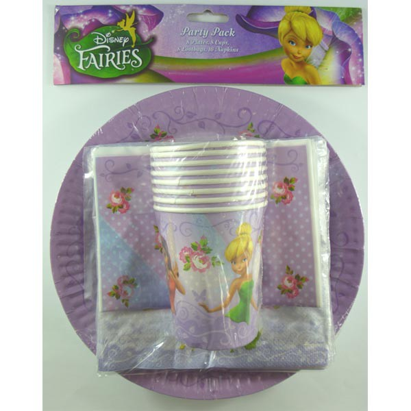 DISNEY TINKERBELL FAIRY PARTY PACK - 40 PIECES