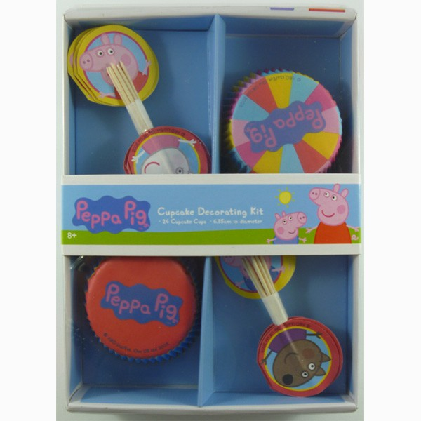 PEPPA PIG CUP CAKE DECORATING KIT
