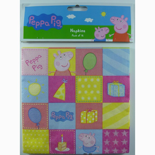 PEPPA PIG NAPKINS - PACK OF 16