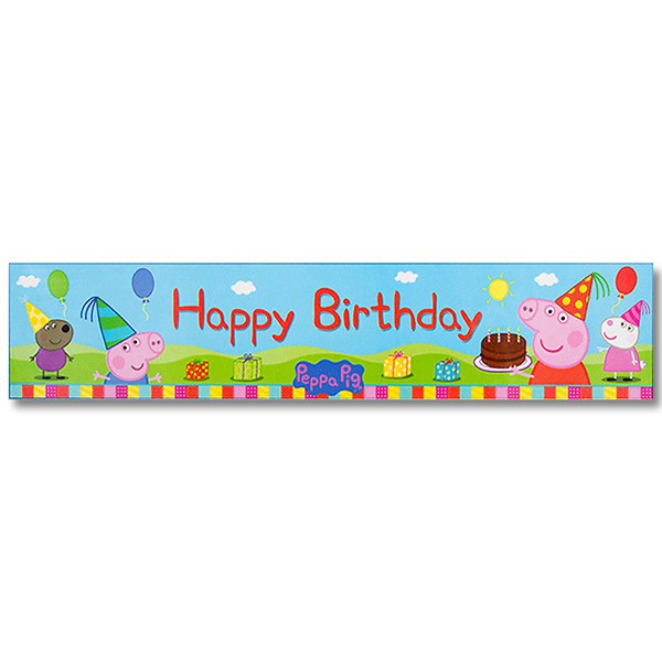 PEPPA PIG \'HAPPY BIRTHDAY\' PARTY BANNER