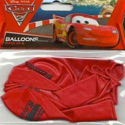 BALLOONS LATEX - CARS PACK OF 6