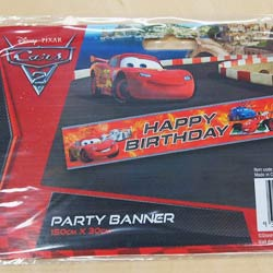 CARS 2 - PARTY BANNER
