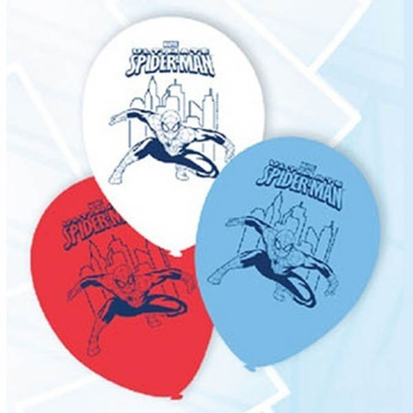 BALLOONS LATEX - SPIDERMAN PACK OF 6