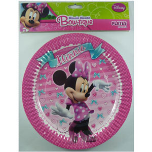 MINNIE MOUSE PAPER PLATES SET OF 8