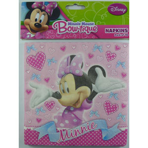 MINNIE MOUSE NAPKINS PACK OF 16