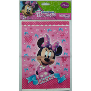 MINNIE MOUSE LOOT BAGS PACK OF 8