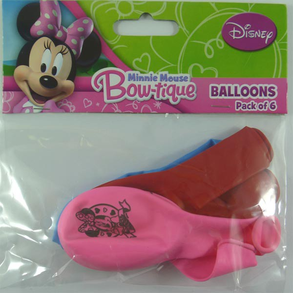 BALLOONS LATEX - MINNIE MOUSE PACK OF 6