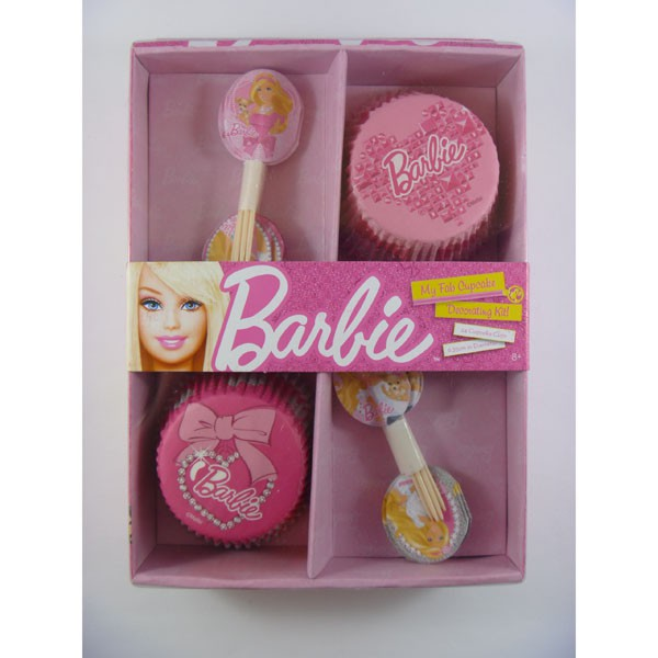 BARBIE CUP CAKE DECORATING KIT